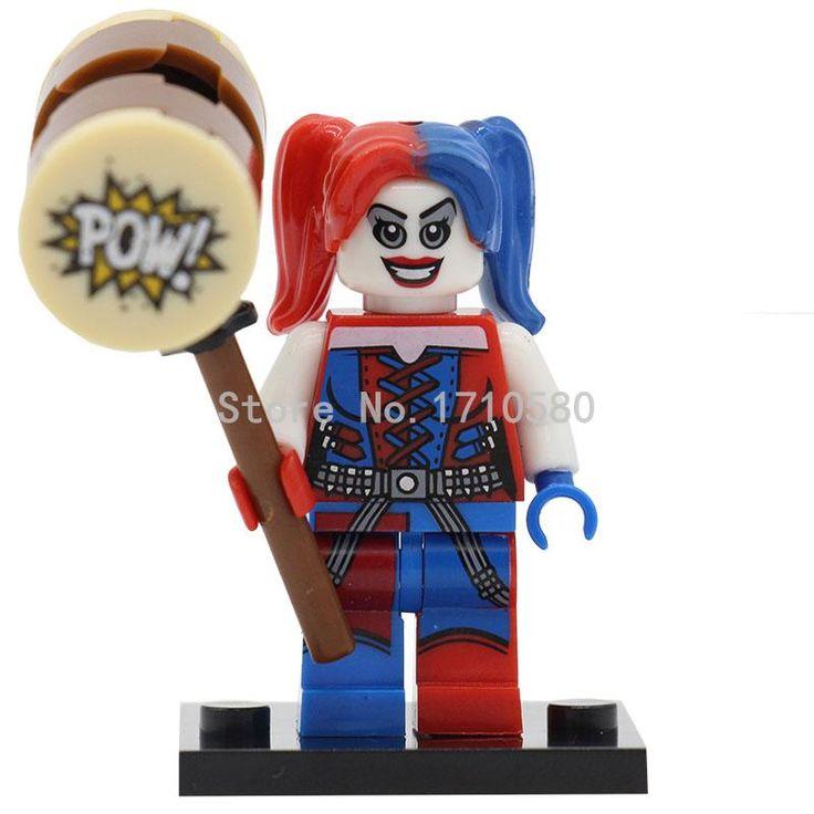 Xinh 255 harley quinn figura sola venta marvel dc mini bloques de construcción dc batman super hero modelos figura juguetes de los niños