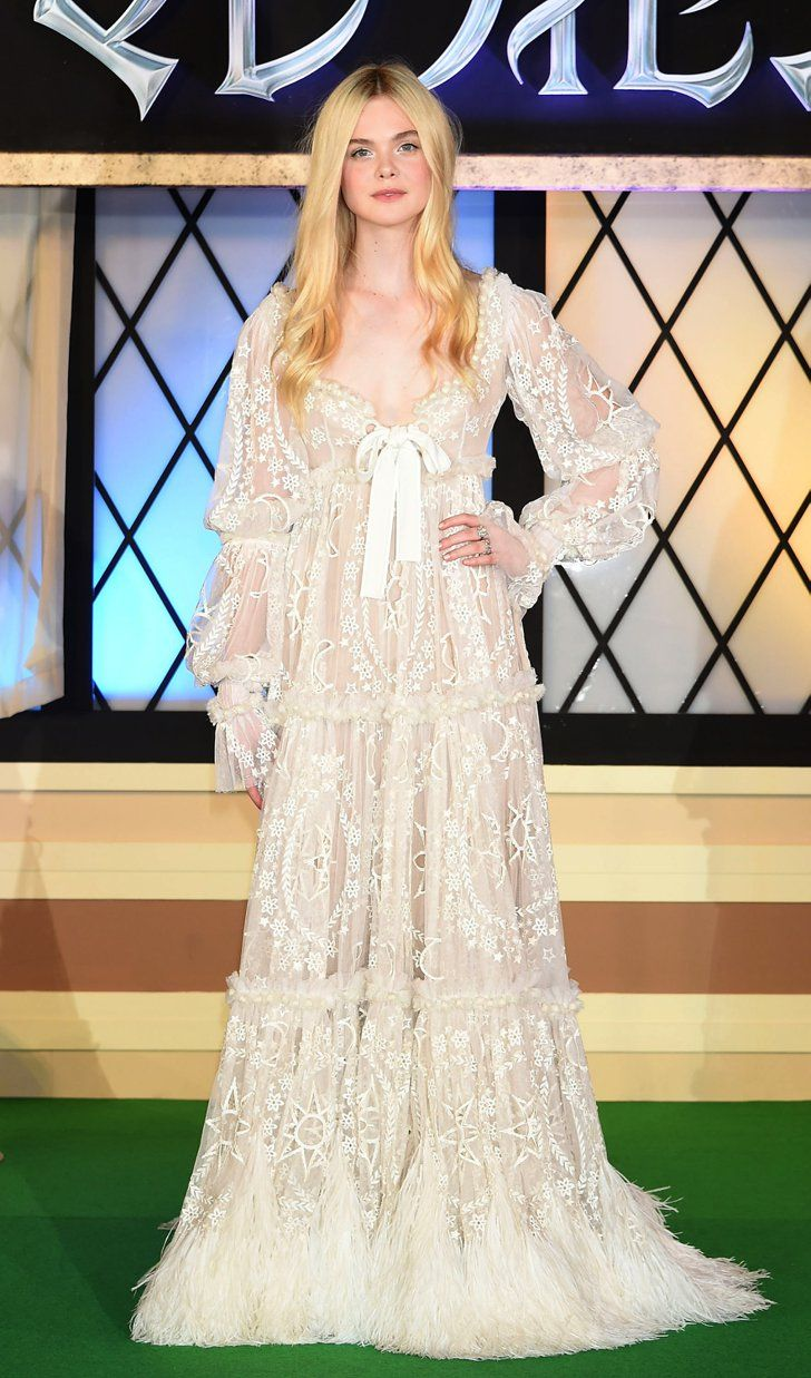 Pin for Later: The Week Brought More Dresses Than Stars Elle Fanning Elle Fanning at the Tokyo premiere of Maleficent.