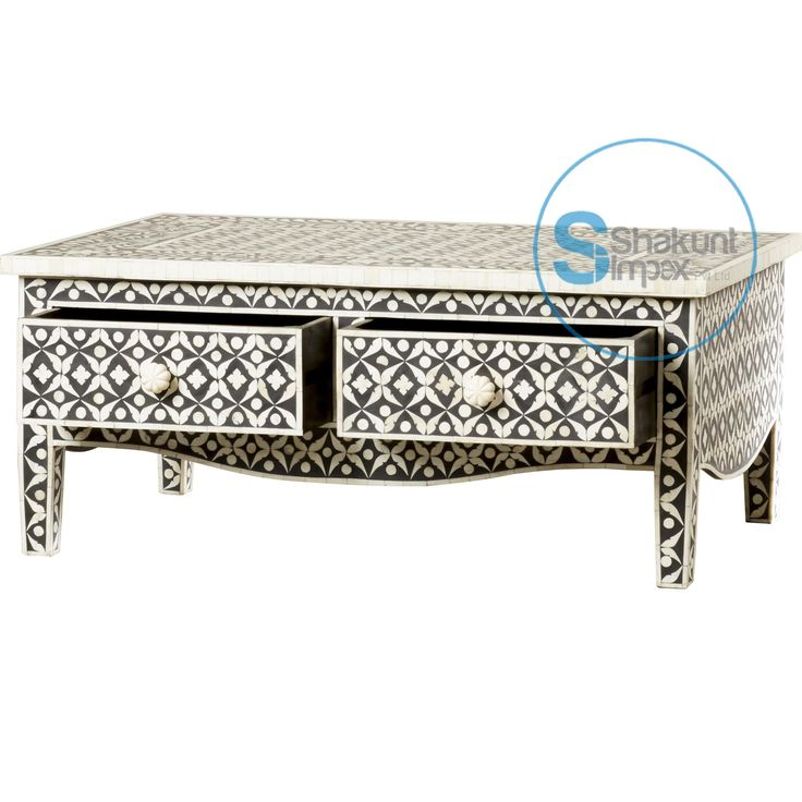 awesome bone inlay coffee table solid wood crafted bone inlay furniture