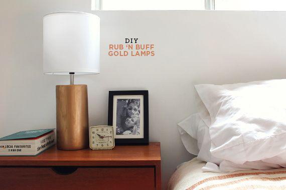 making this: rub 'n buff gold lamps