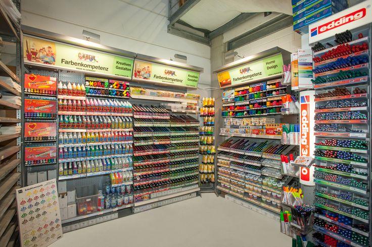 In der Filiale Hoffeldstraße 104, 40235 Düsseldorf findet Ihr viele Produkte der Firma Kreul.