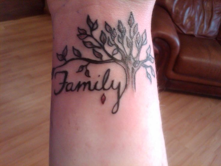 tree wrist tattoos | Family Tree Tattoo Designs for Women