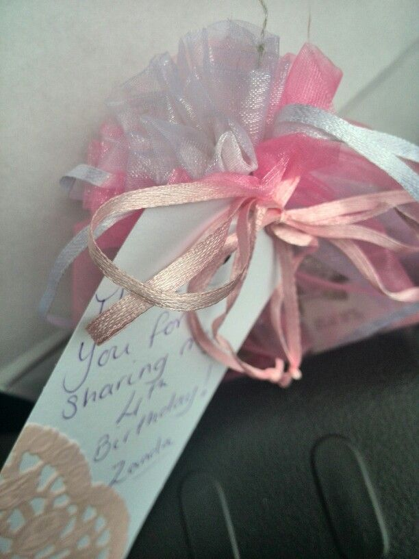 Silk party pack with lace detail on name tag