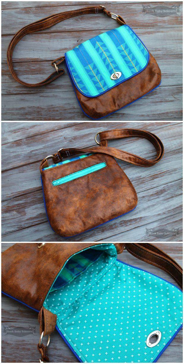 Mini Messenger Bag - patron de couture libre. Un de mes sacs préférés. Grande taille, ressemble beaucoup, l'amour de la tuyauterie, et de coursse, il est un patron de couture libre aussi.