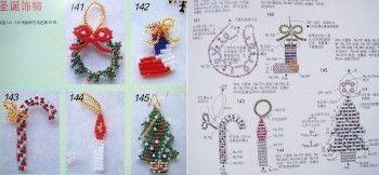Рождественские изделия из бисера