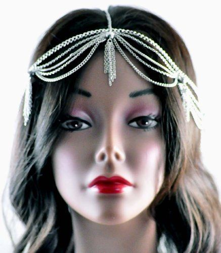 New Fashion Jewelry Ladies Silver Metal Head Chain w/Chain Tassel IHC1003R NYfashion101inc. $9.90. Save 55% Off!