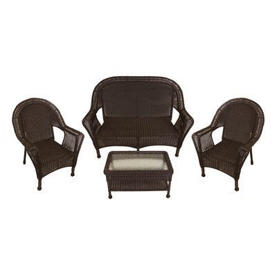 Brown Resin Wicker Patio Furniture SetItem Chairs Loveseat And Coffee  TableProduct Features:Highest Quality Heaviest