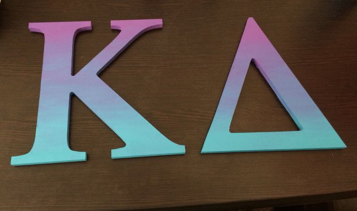 Ombré sorority letters More