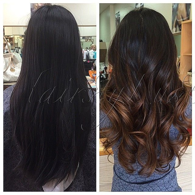 Avant-Apres : Joanne. First time getting a color. Color/haircut/style. Asian hair before/after