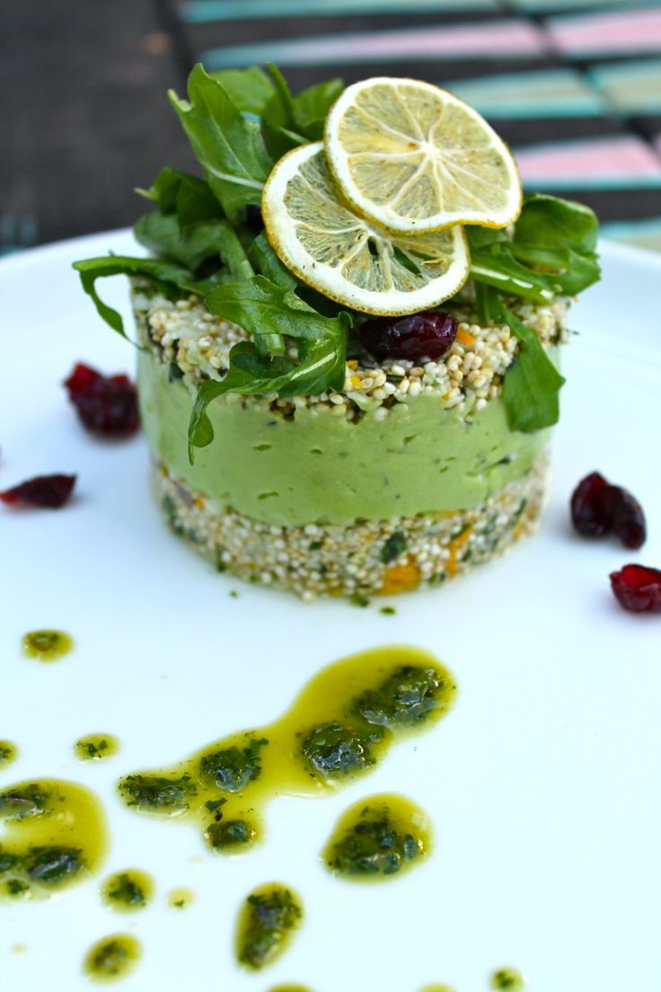 Sprouted Quinoa & Cauliflower Cous Cous with Herbs, Orange and Lemon Avocado Mousse Discover Federica Nucci secrets at the Italian Wine & Food Festival - 13 September