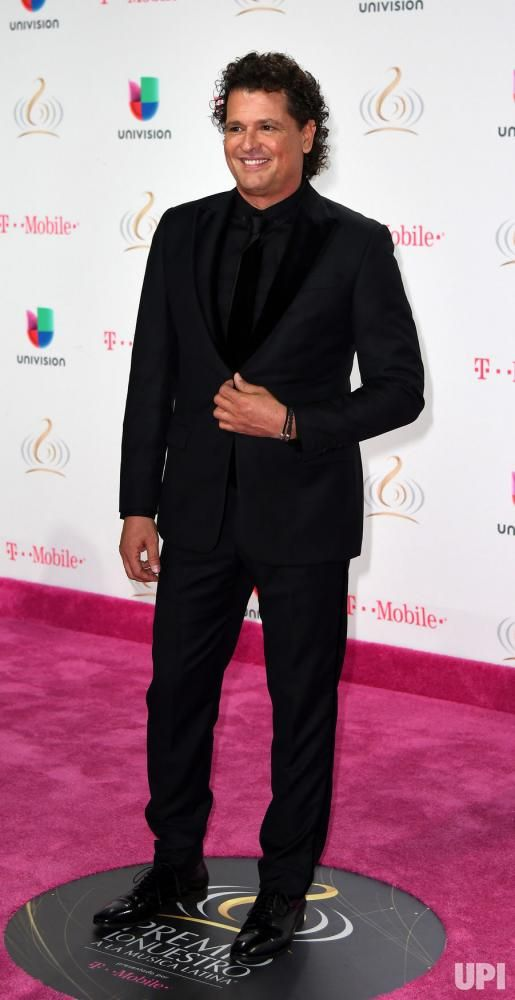 Latin artist Carlos Vives walks the red carpet at the Univision 2017 Premio Lo Nuestro a La Música Latina show at the American Airlines…