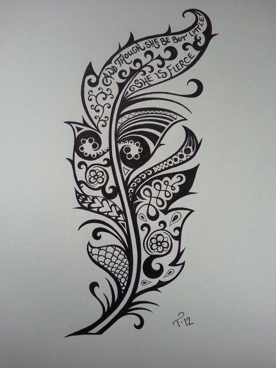 arte tattoo dise o tatuaje pluma dreamweaver pinterest feather tattoos feather tattoo. Black Bedroom Furniture Sets. Home Design Ideas