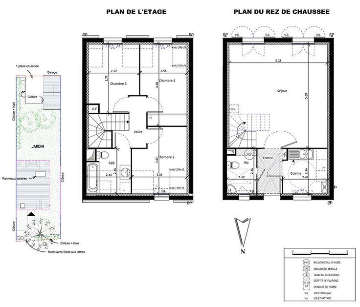 les 11 meilleures images du tableau plans type sur. Black Bedroom Furniture Sets. Home Design Ideas