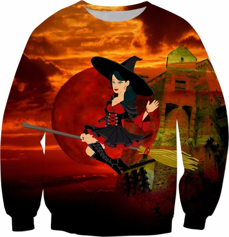 Witch and Red Moon  #rageon #erikakaisersot #sweatshirts #fairytales