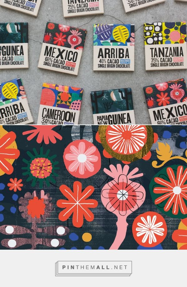 Macondo Chocolate Co packaging design by A-Side Studio - http://www.packagingoftheworld.com/2016/10/macondo-chocolate-co.html