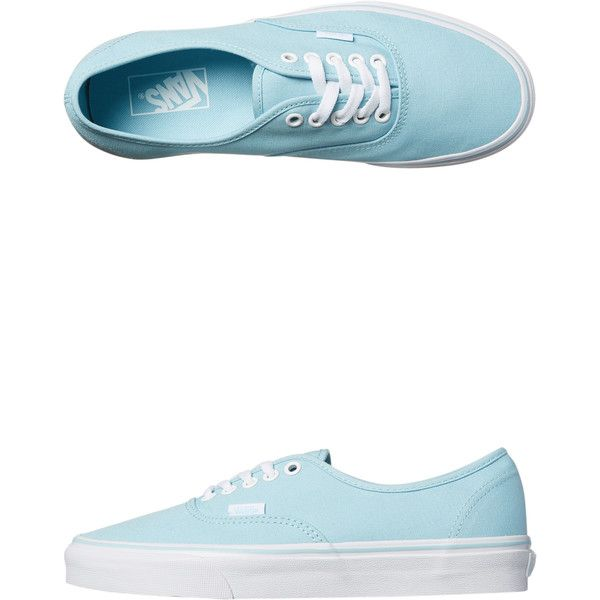 Vans Womens Authentic Lo Pro Shoe Blue ($80) ❤ liked on Polyvore featuring shoes, sneakers, blue, footwear, women, blue shoes, vans trainers, vans footwear, blue color shoes and blue trainers