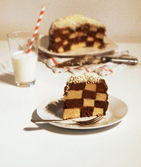 Sugar Stories: Checkered Black & White Choco Cake