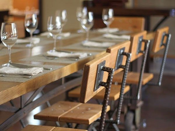 Bar Table With Nesting Stools