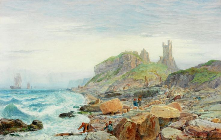 Charles Napier Hemy - Ruin of a Northumbrian Keep, 1864