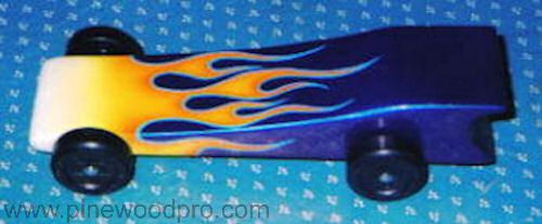 Pinewood Derby Flame Car