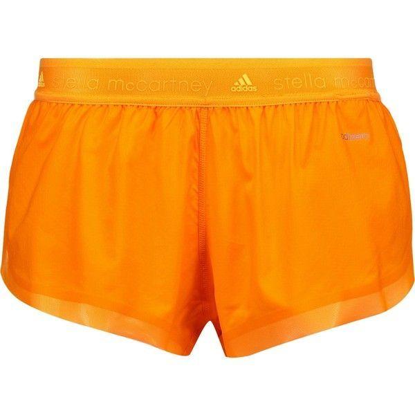 ADIDAS by STELLA McCARTNEY Running Adizero mesh-trimmed shell shorts ($39) ❤ liked on Polyvore featuring activewear, activewear shorts, adidas, adidas activewear and adidas sportswear