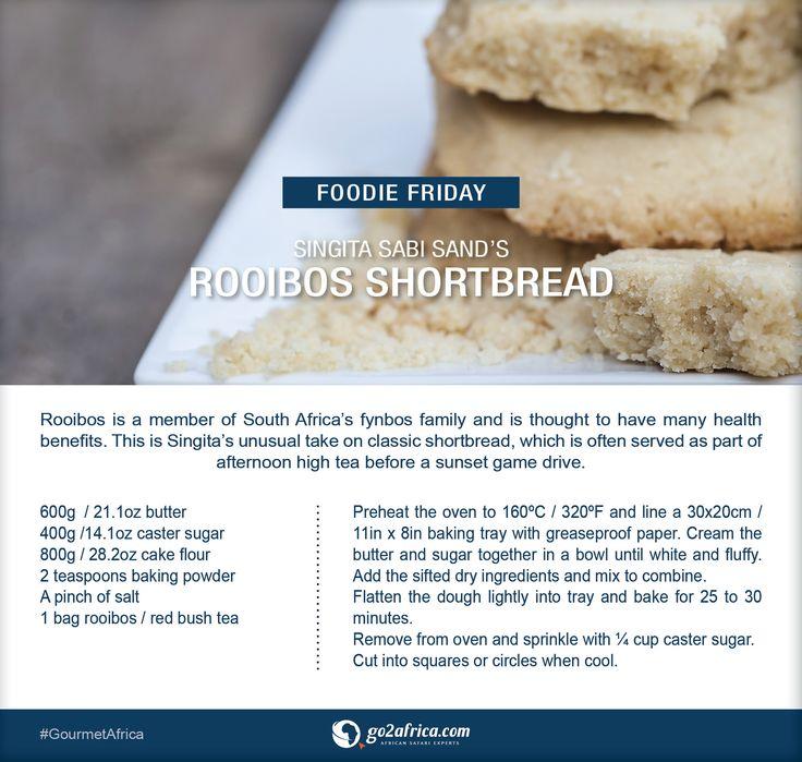 Singita Sabi Sand's Rooibos Shortbread. #Africa #GourmetAfrica #recipe #foodie #rooibos #shortbread #baking