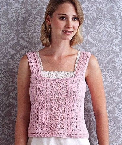 Crochet Sweaters and Shirts on Pinterest | Crochet Tops, Free ...