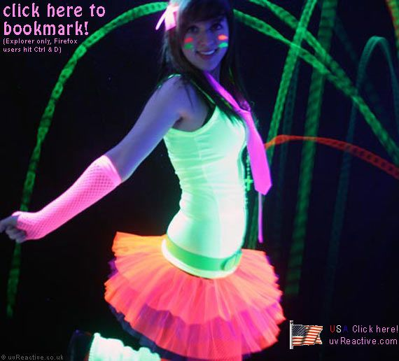 i want this!!!!Neon Clothing, Birthday Parties, Tutu, Neon Glow In The Dark Clothing, Neon Outfits, Hair Bows, Dark Parties, Rave Outfits, Neon Glow In The Dark Rave 3