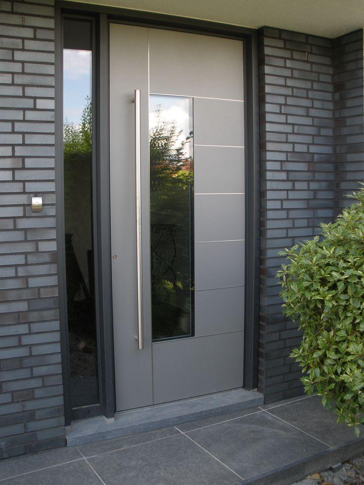 voordeur kura adeco caverro aluminium vleugeloverdekkend antraciet
