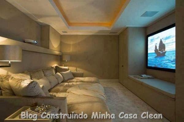 Home Theater! 20 Projetos de Salas de TV Modernas!!!