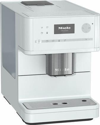 """CM6150LOWE 10"""" Countertop Coffee Machine with OneTouch for Two AromaticSystem Individual Settings Removable Brew Unit and Coffee and Tea Pot Function in Lotus White"""