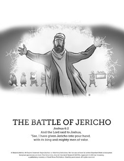 A Sunday School Lesson From SharefaithKids On The Battle Of Jericho As Found In Joshua 6