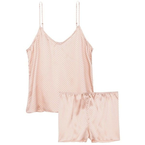 Equipment  Alexy  polka dot silk satin pyjama set (£190) ❤ liked on  Polyvore featuring intimates c39ab545a