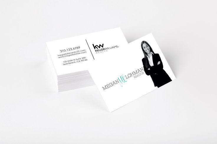 Modern, B&W Realtor Business Cards Keller Williams- Gloss or MATTE, color both sides FREE UPS shipping- century 21 exit realty by Ladyluckpr on Etsy https://www.etsy.com/listing/233358798/modern-bw-realtor-business-cards-keller