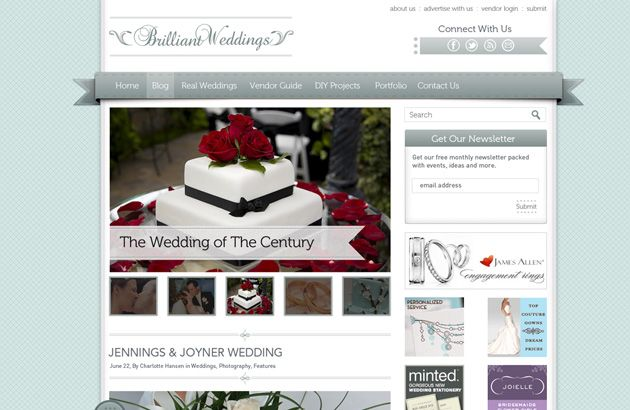 Brilliant - Since we are on a photography/portfolio kick we thought we would upload/add a wedding blog that followed today's style and techniques for this genre of design templates. As usual it is built on a 960-grid-system with grouped layers and more. Much much taller template in terms of pixels but fun to work with.