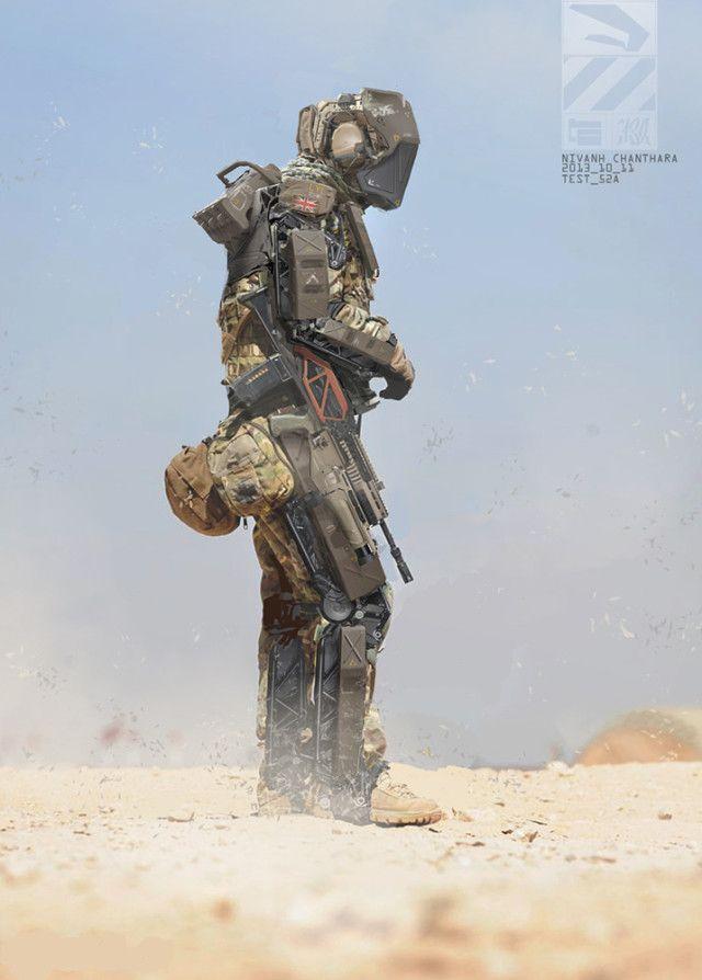 Ilustrador cria soldados e cenários futuristas incríveis