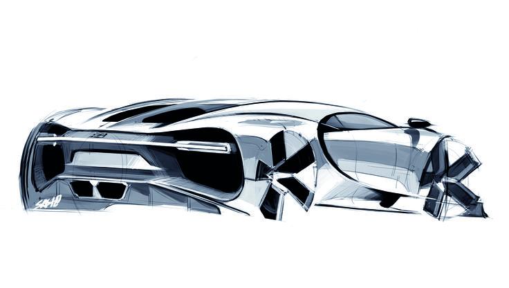 Bugatti Chiron, Sketch by Sasha Selipanov