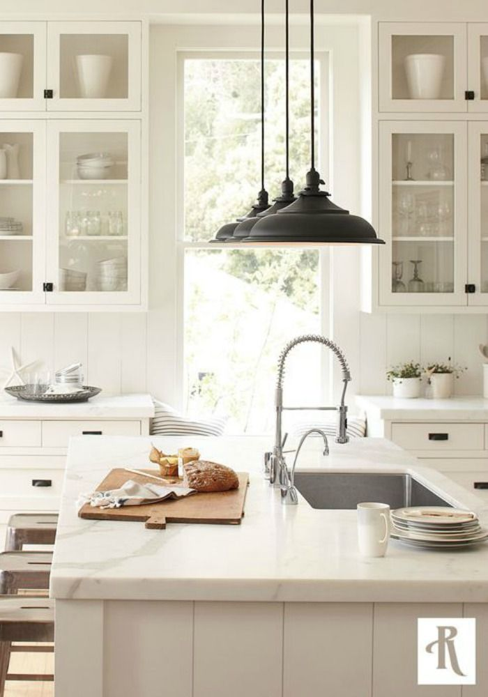 Elements Of A Modern Farmhouse Home. Kitchen Island Light FixturesFarmhouse  ...