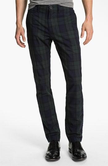 Just A Cheap Shirt - Tartan Plaid Slim Straight Leg Chinos