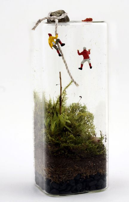 People climbing out of your terrarium?