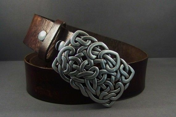Vintage Brown Leather Belt Snap Leather Belt por 4MLeatherDesign