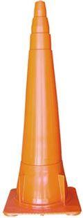 Cono de 100 cm FLEXIBLE color naranja vial (base reforzada)  Medidas: 1000 x 358 x 358 mm. ( alto x ancho x perfil ) Peso: 1700 gramos Origen: ARGENTINA Marca: BM Garantía: 6 meses  Observaciones:  Material: Plástico flexible con memoria molecular.  Color: Naranja vial.  Adicionales: Posee aletas para evitar que se claven al apilarlos.  Alojamiento para autoadhesivo: 3 espacios a 90° de 25 mm para pegar lámina reflectiva.   Especiales para autopistas por su altura y tamaño.