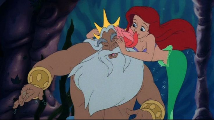 King Triton and his daughter, Ariel