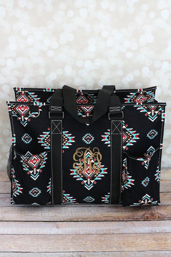 Desert Diamond Monogrammed Diaper Bag