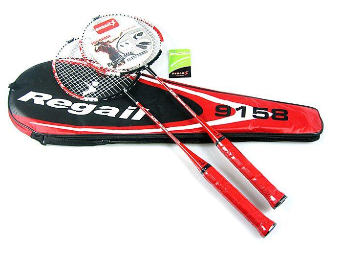 1 Par Llename 9158 Velocidad Raqueta de Bádminton Raqueta Raqueta + Bolsa de Transporte Duradero para Parejas Rojo