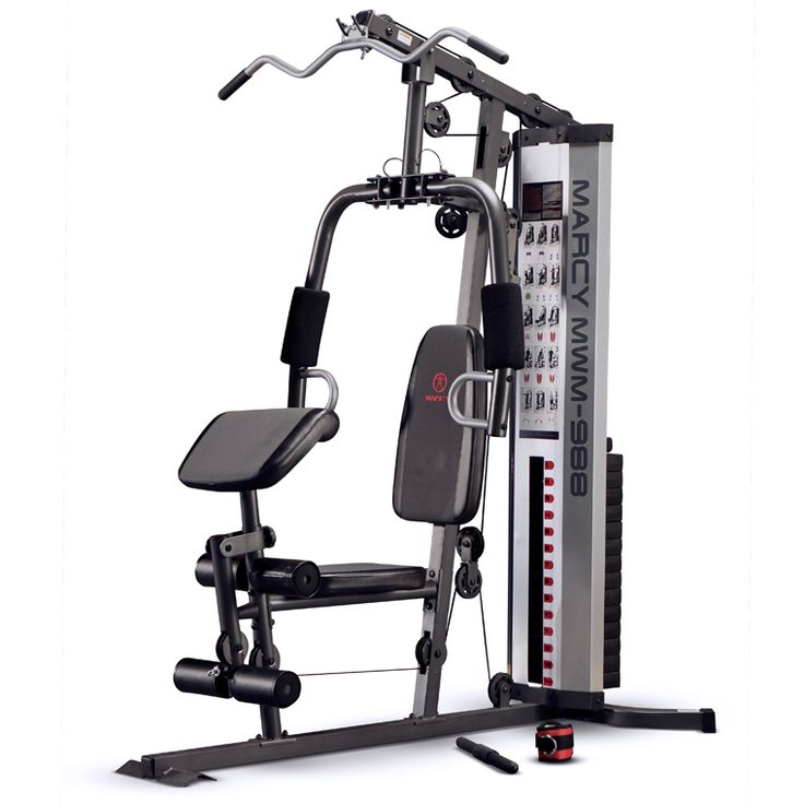 The Marcy MWM-988 Total Home Gym System is an all-in-one home gym system that allows you to get a full body strength training workout in the comfort of your own home. Find out about all the workout features the MWM-988 has to offer: