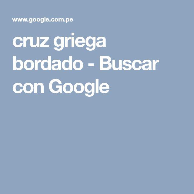 cruz griega bordado - Buscar con Google