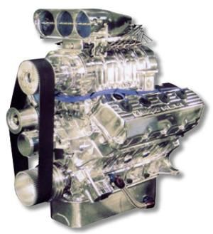 540 Aluminum Hemi Crate Engine - 900+ Horsepower - built for extreme Hot Rods and Pro Street cars. Horsepower and durability of a race engine and drivability of a street engine.