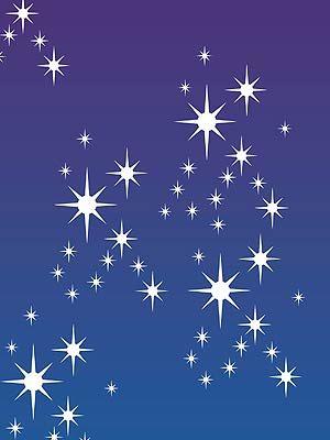 Star Stencils Small Stars Cluster Stencil