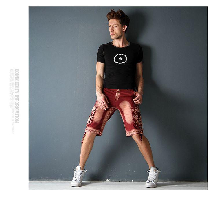 Aliexpress.com: Compre 2015 vestido de verão Plus Size casuais calças de camuflagem dos homens de roupas masculinas homens Baggy na altura do joelho multi bolsos de carga Shorts de confiança tag vestido fornecedores em AOXUAN CLOTHING CO.,Ltd